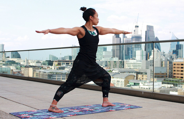 This is the First part of the Triangle Pose in Yoga