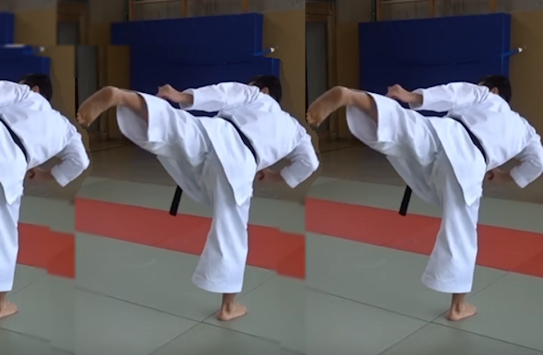 This is Ura Mawashi Geri – Back Roundhouse Kick