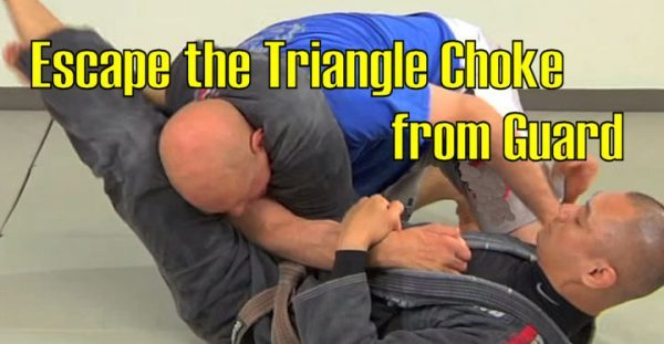 How to Escape the Triangle Choke from Guard