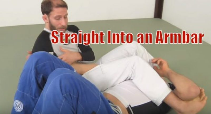 How to do a Guard Pull Technique Straight Into an Armbar