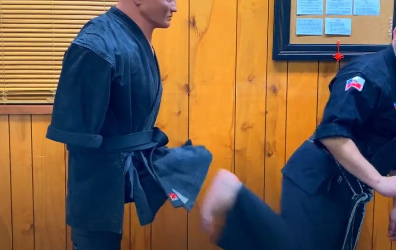 The Back Scoop Kick in Kenpo Karate