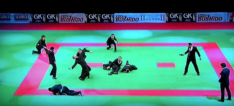 Matrix fight scene