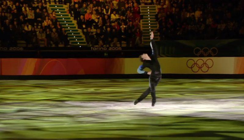 Stephane Lambiel Olympic Medal in Figure Skating